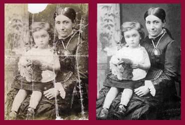 pictorium monkstown dublin photo restoration photo retouching photo ediitng torn damaged faded creased print canvas photo frame