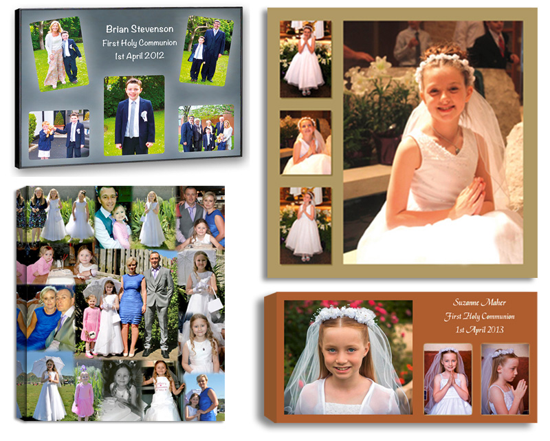 Communion Confirmation photos and Photo Collages designed and printed on Canvas, Framed, Float Frame, Block. Digital Alterations Editing and Retouching Photo Printing Pictorium Photoshop Monkstown Dublin Photo Gift Ideas