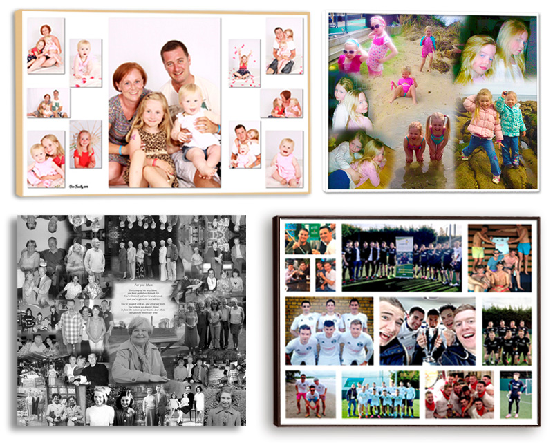 Pictorium Photoshop Monkstown Dublin We Design and Print Personalised Photo Collages. Unqiue designs.Canvas, Printed, Framed, Block Float, Frame.